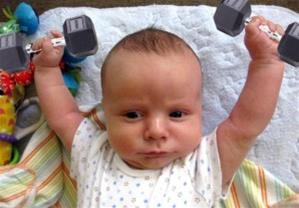 Efterfødselstræning (baby  kan ikke kravle)